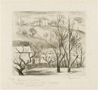paysage à l'hermitage (pontoise) [landscape at the hermitage (pontoise)] by camille pissarro